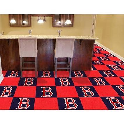 Fan Mats Boston Red Sox Carpet Tiles,18u0026quot; ...
