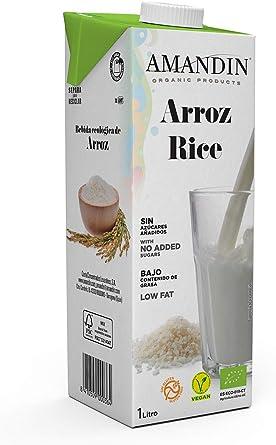 Amandin Bebida de Arroz Ecológica 20%, Paquete 6 x 1000 ml: Amazon.es: Alimentación y bebidas