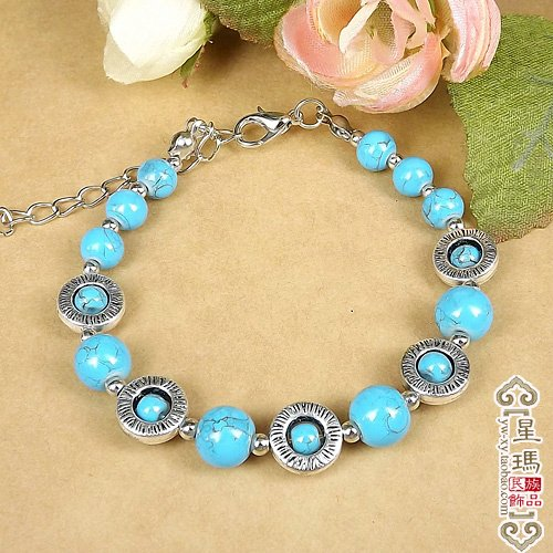 Special Sigma spot silver-plated new gold-plated mosaic ethnic Tibetan Jewelry Nepal Tibetan bracelet S7348