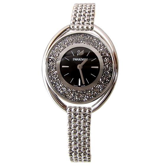 swarovski reloj de señoras cristalino brazalete negro ovalada ver negro 5181664: Amazon.es: Relojes