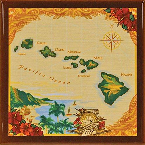 - Hawaii Ceramic Tile Trivet Island Chain