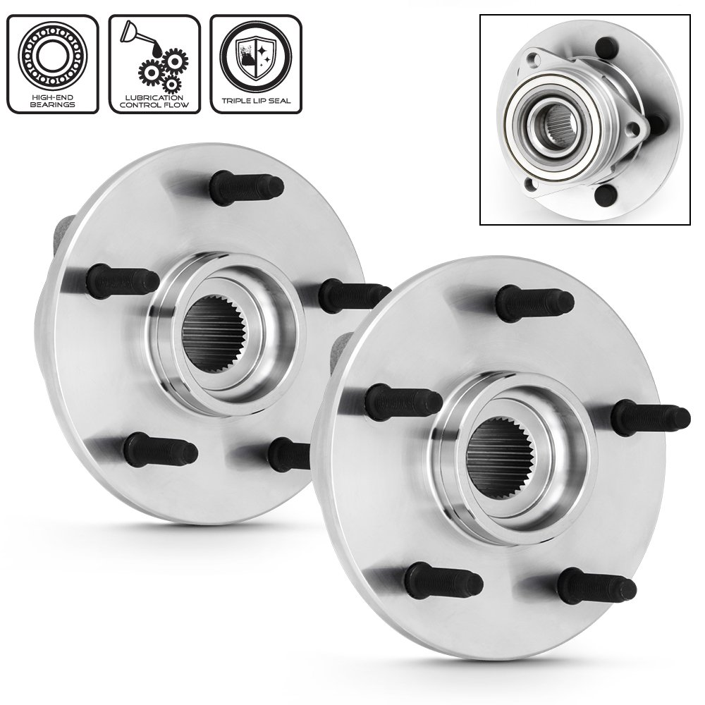 For 2000-2001 Dodge Ram 1500 4WD With Rear ABS Models Pair of 515038 Front Wheel Hub Bearings Assembly Replacement