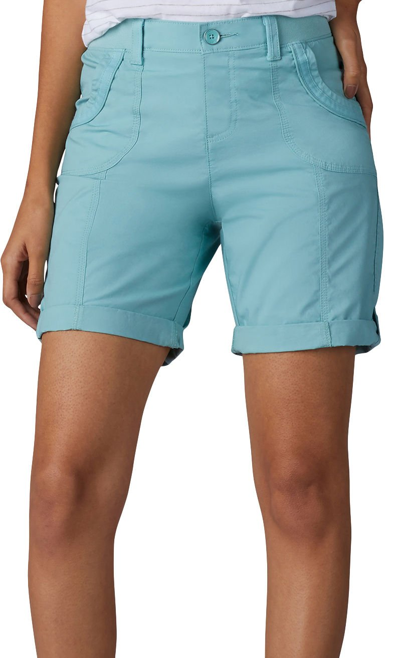LEE Women's Relaxed Fit Melody Knit Waist Bermuda Short, Aquifer, 16
