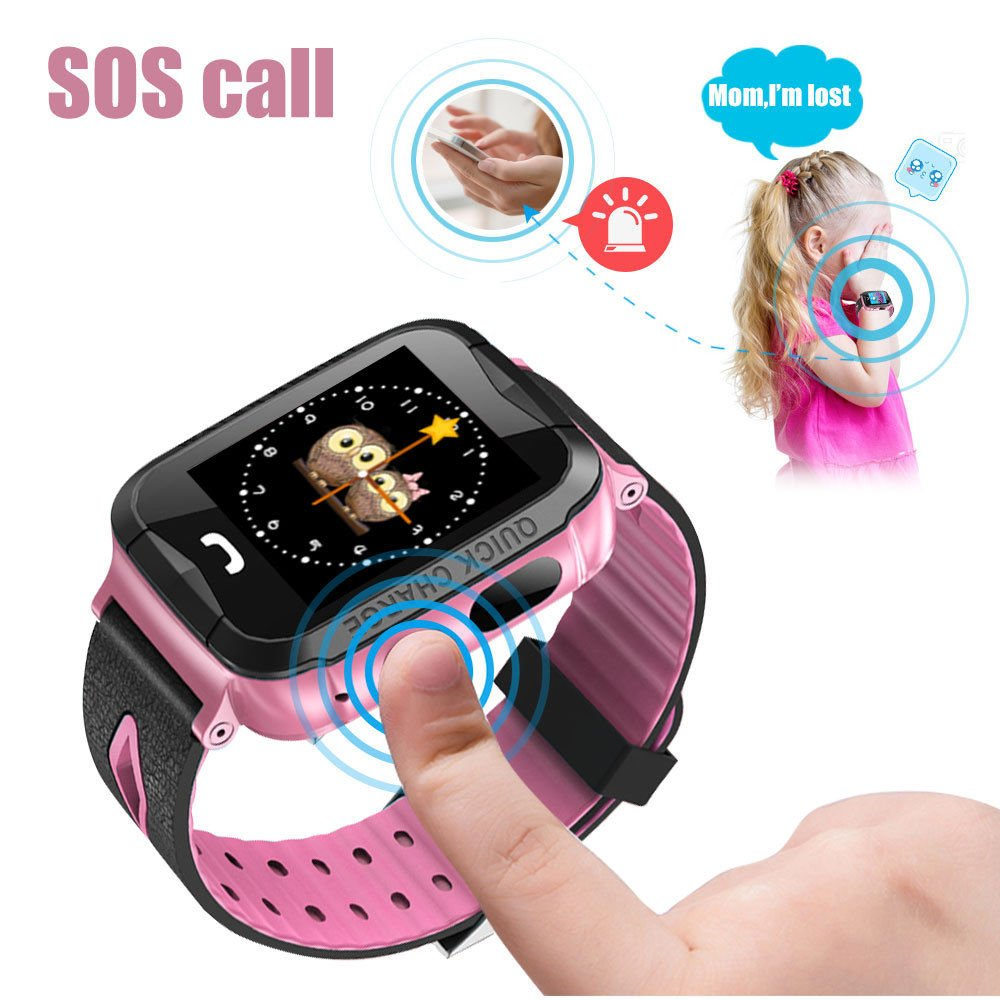 Amazon.com: ANDROSET KIDS GPS TRACKER WATCH, Holiday Gift List 2015-2016 Mini GPS Tracker Watch For Kids- SOS Emergency Anti Lost Smart Mobile Phone App ...