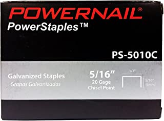 "product image for Powernail 20ga. Chisel Point Staples, 1/2"" Crown, 5/16""leg (5,000 CT)"