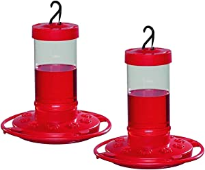 First Nature 16 oz. Hummingbird Feeder (2 Pack), Red