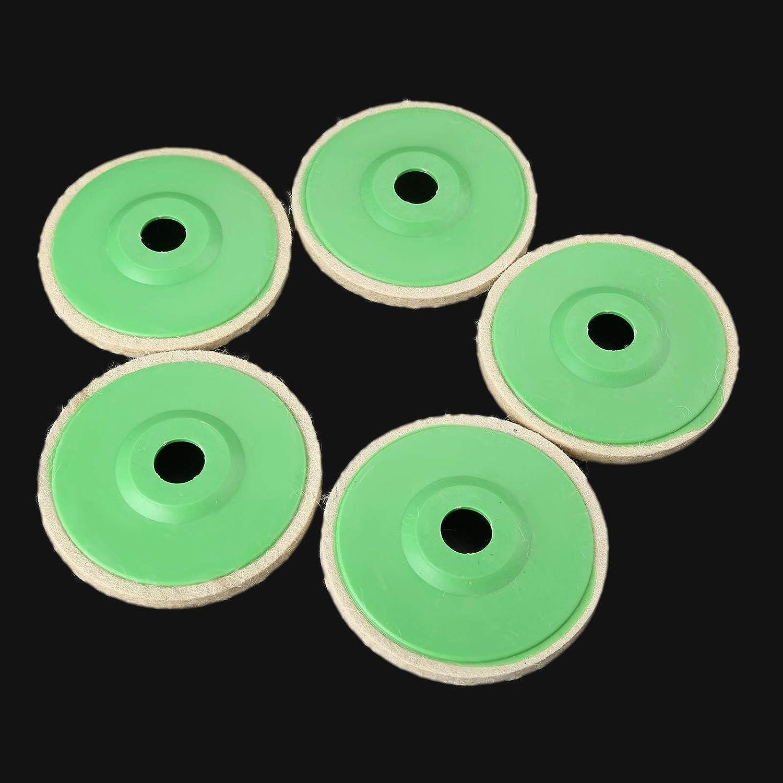 LDCREE 5pcs 5 Pouces 125mm Roue de Polissage Laine Feutre Polissage Angle meuleuse Roue Disque de Polissage pour m/étal marbre dremel Accessoires