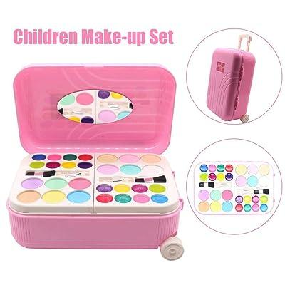 Oddity Set de paletas de Maquillaje, vestirse con Estuches de tocador Juego de imaginación Maquillaje cosmético Lavable Real Girl Makeup Toy para niñas y niños: Hogar