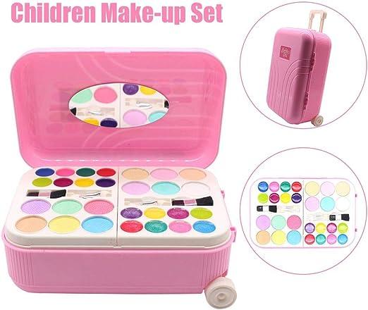 Oddity Set de paletas de Maquillaje, vestirse con Estuches de tocador Juego de imaginación Maquillaje cosmético Lavable Real Girl Makeup Toy para niñas y niños: Amazon.es: Hogar