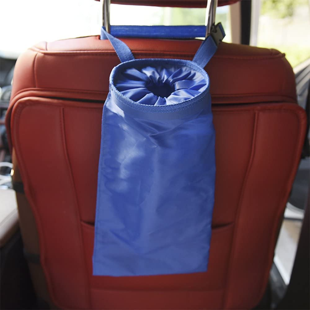 red COGEEK Car Trash Can Bin GarbageBag Waterproof Travel Storage Hanging Organizer Bag Stowing Tidying