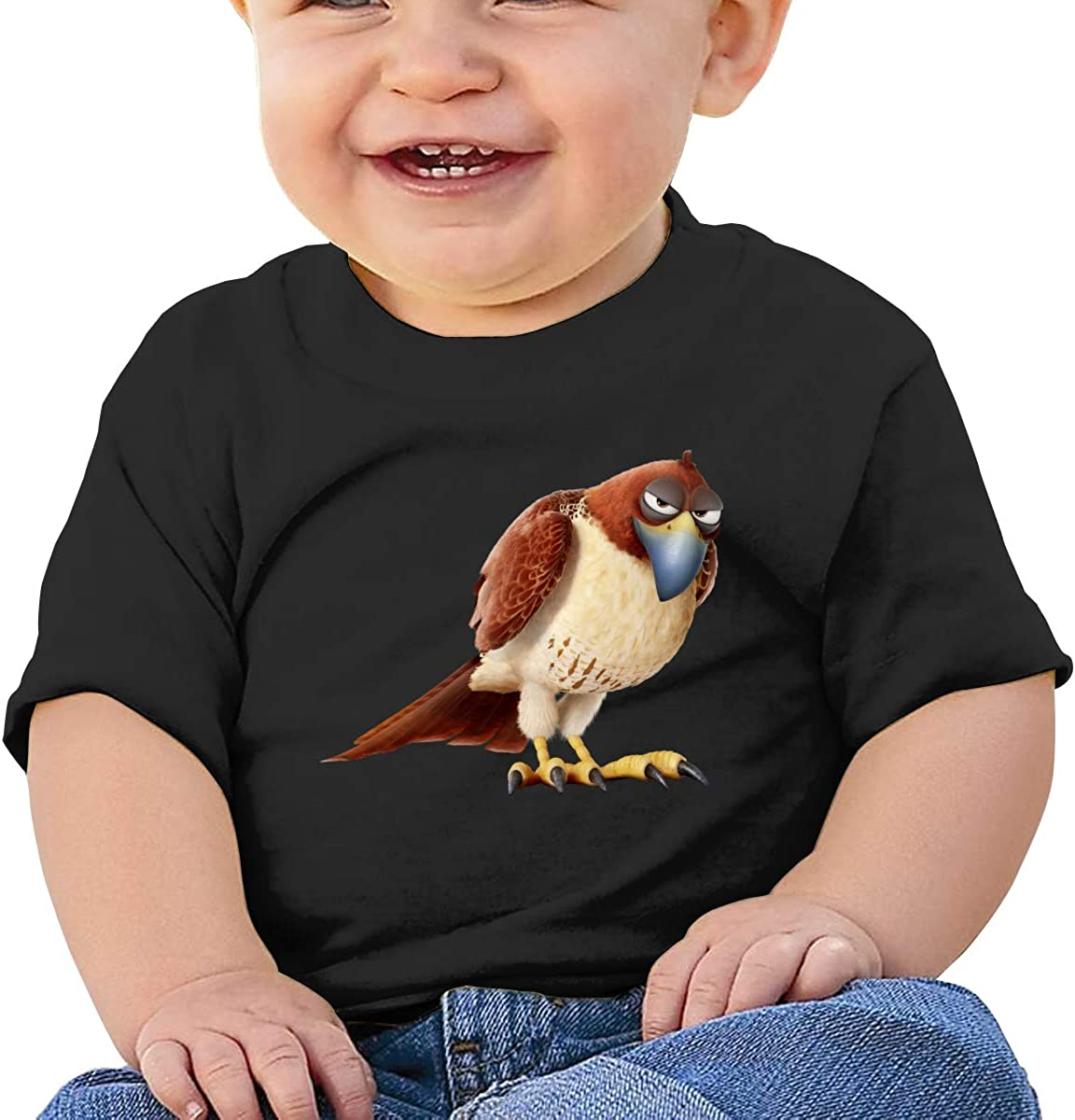 LIIREN Tiberius Tee Custom Cute T-Shirts for Infant Black