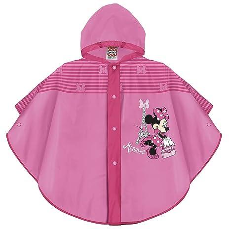 Perletti Disney Minnie Maus Regen Poncho für Kinder - Minni Mouse Wasserdicht Regenmantel für Kleine Mädchen - Regencape mit