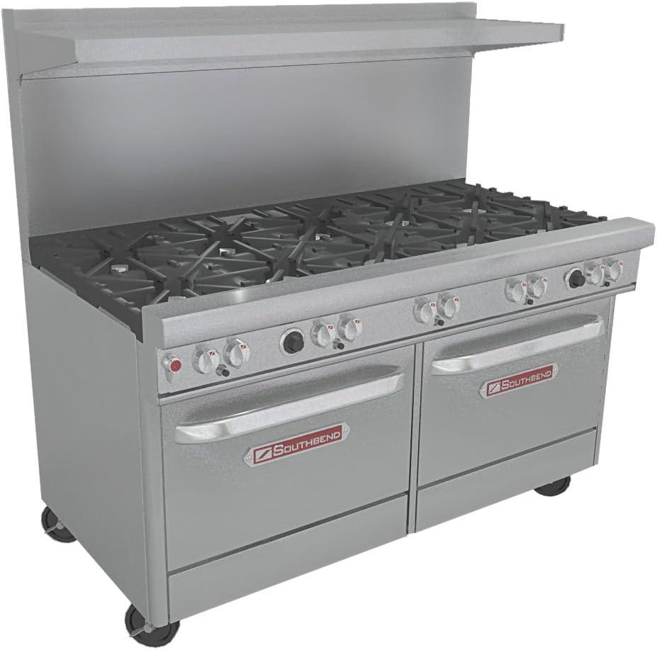 "B003K2JS3U Southbend - 4601DD - 400 Series 60"" Restaurant Range w/ 10 Burners & 2 Standard Ovens 61WnGSK4a0L.SL1200_"