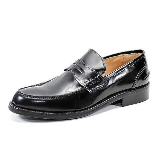 Penny Loafers Mocasines para Hombre Zapatos Hecho a Mano en Italia Pierre Cardin (45,