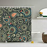 ROOMY Beautiful Patterns Eco-Friendly Shower Curtain Water Repellent, Everyday Shower Curtain Liner Anti-Mildew 60 x 72