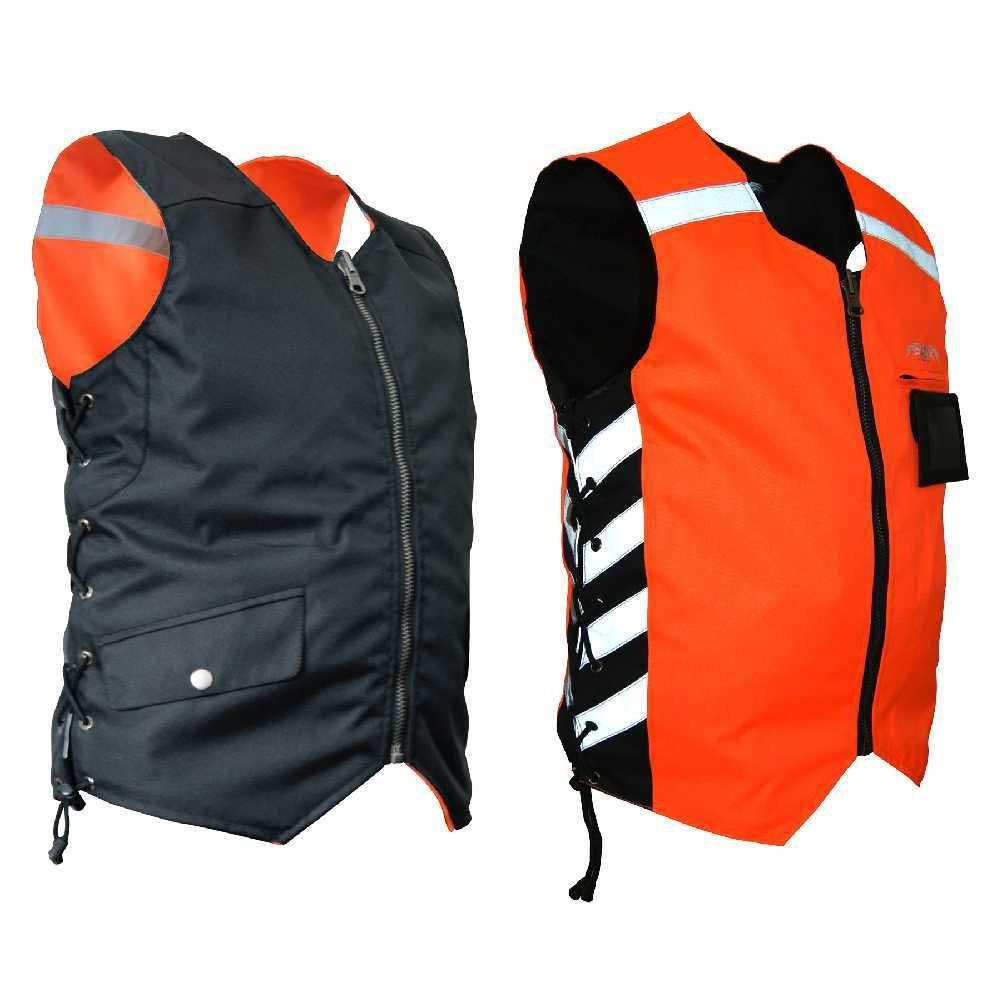 Missing Link Military Duty Reversible Safety Vest (Black/Orange, Small)