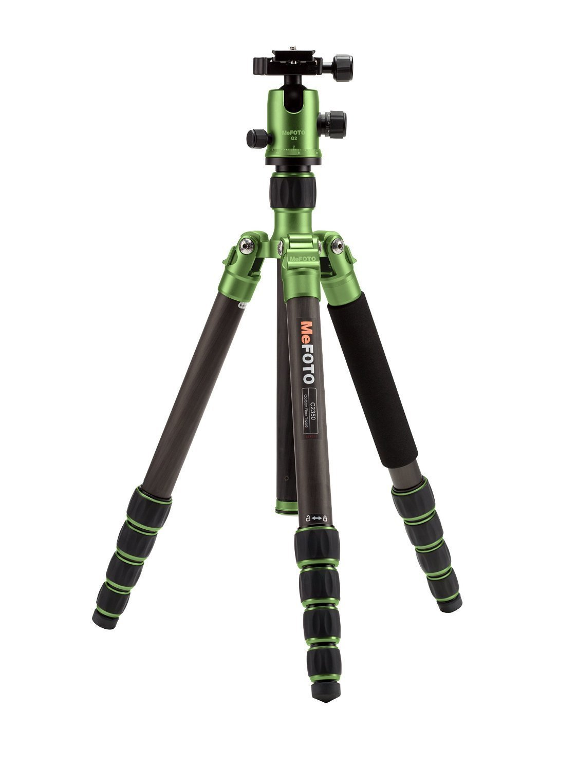 MeFOTO C2350Q2G Carbon Fiber Globetrotter Travel Tripod Kit (Green) [並行輸入品]   B019SZ8EAU
