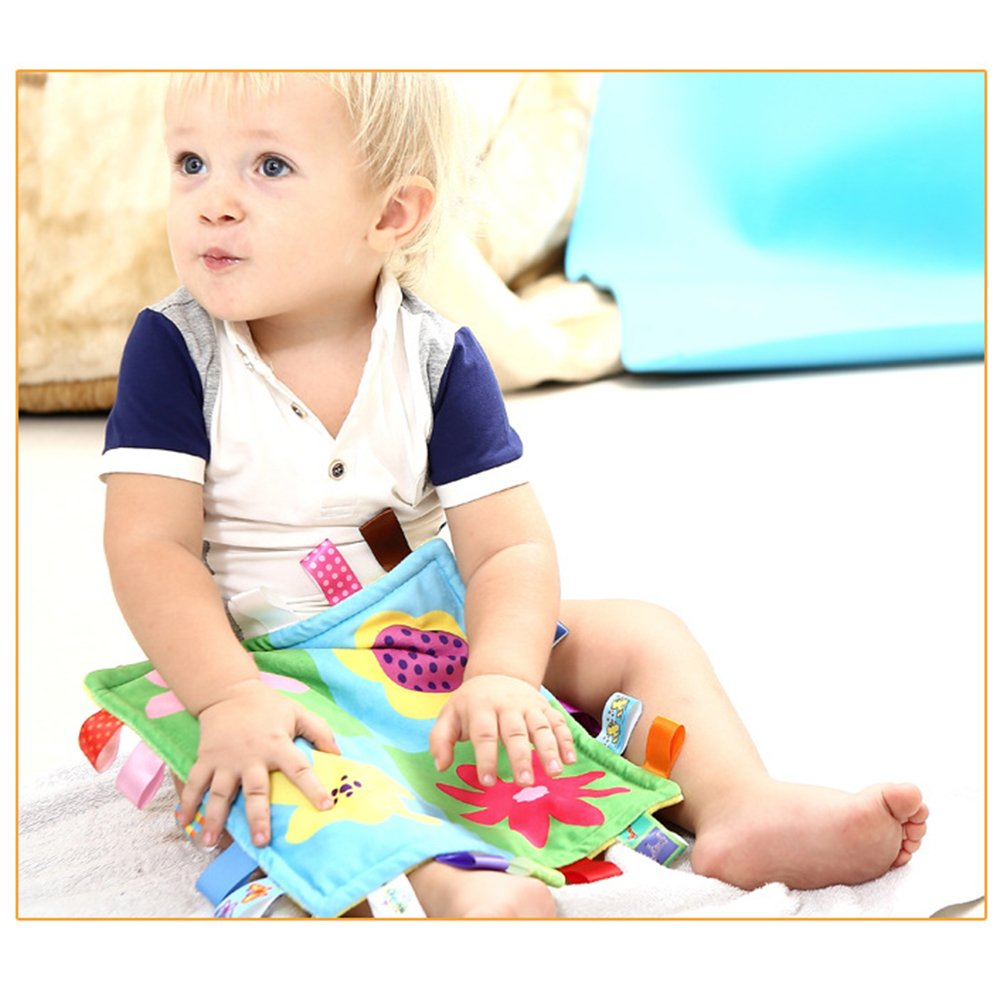 Baby Comforting Taggies coperta 26.5/cmx26.5/cm quadrati morbidi peluche Baby placare asciugamano coperta di sicurezza per bambini 0/ /3/anni