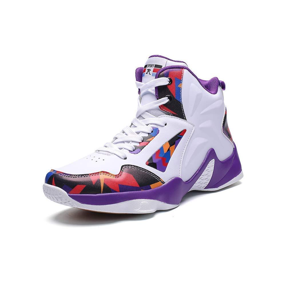 White Purple EU35 US 5 Women Exclusive shoesbox Women's Men's Performance Sports Basketball shoes Breathable Lightweight Fashion Sneakers