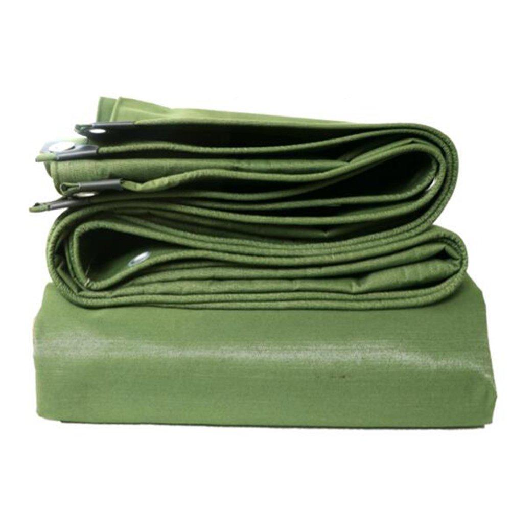 YNN キャンバス防水布サンプロテクションターポリンティーンシェードシェルター布地防水布トラックリノリウムアウェイ 防水シート (色 : アーミーグリーン, サイズ さいず : 5x 6m) B07FPN65B6 5x 6m|アーミーグリーン アーミーグリーン 5x 6m