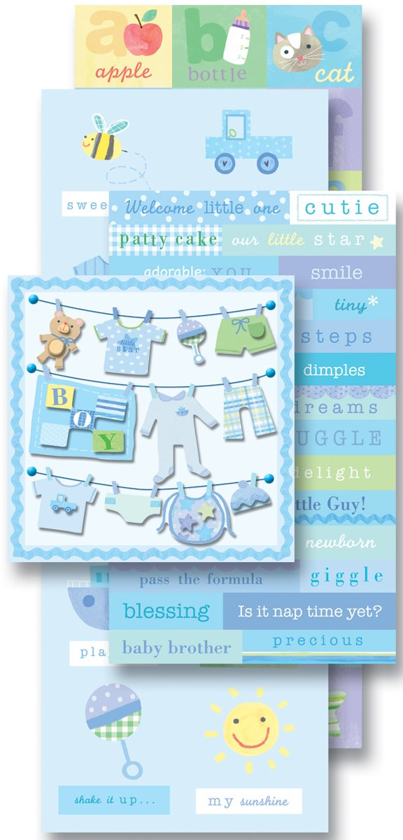 K&Company 921566 Baby Boy Scrapbook Kit Flip Pack EKS