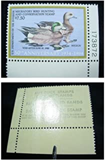 USPS Scott RW51 750 Widgeons Federal Duck Stamp Mint Very Fine Never Been Hinged