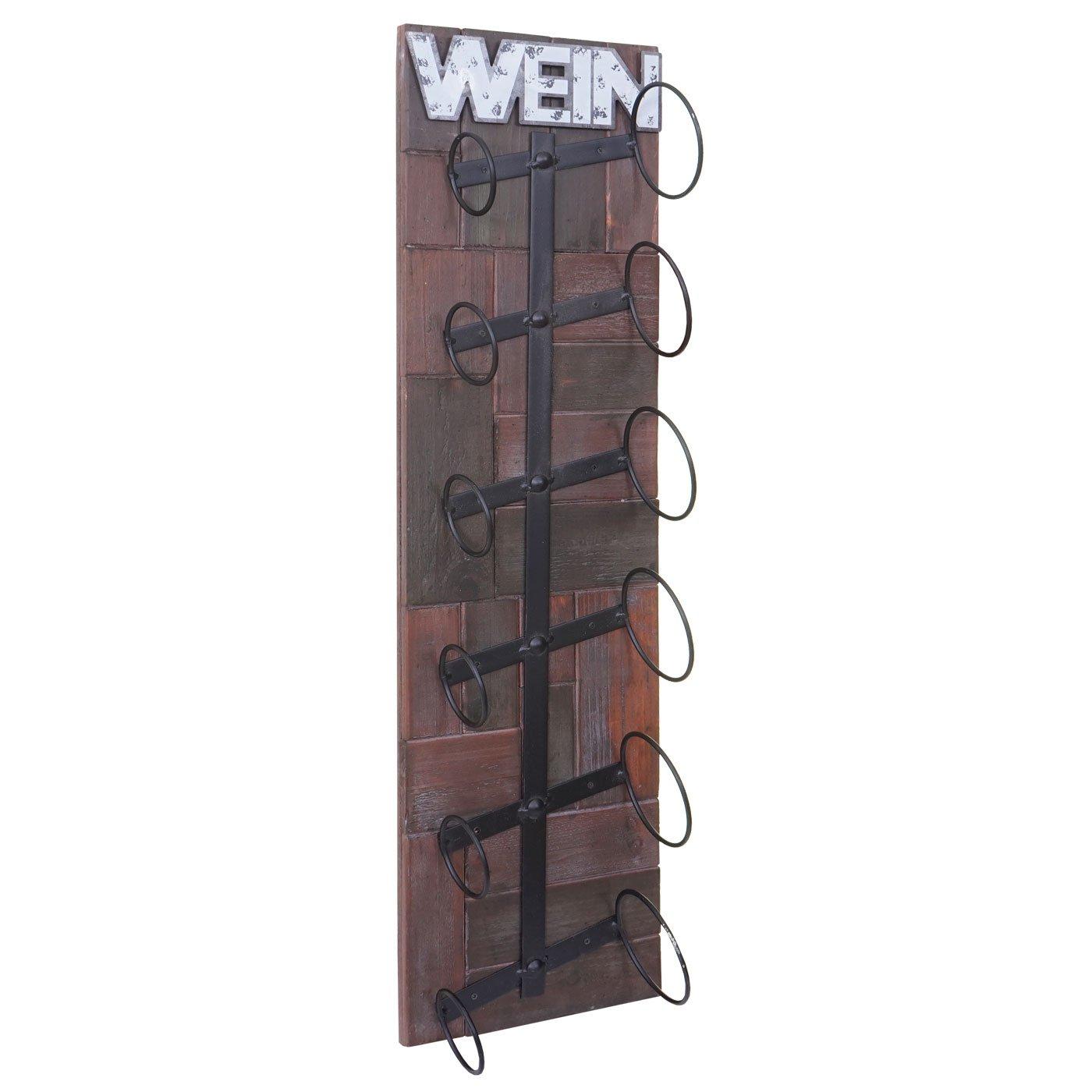 Weinregal Hwc A90 Wandregal Flaschenhalter Holz Metall Fur 4 Oder 6 Flaschen Home Furniture Diy Wine Accessories