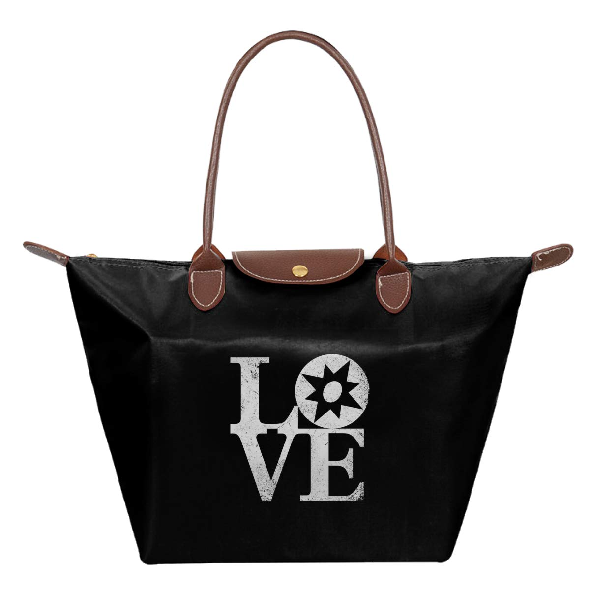 Star Sapphire Lantern Love Waterproof Leather Folded Messenger Nylon Bag Travel Tote Hopping Folding School Handbags