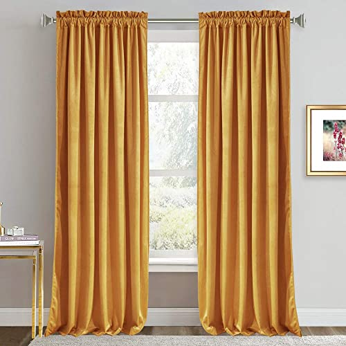 Velvet Curtains 108 inches Long