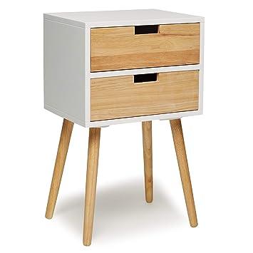 Telefontisch Holz Weiss 40 X 35 X 65 Cm Nachtschrank Nachttisch