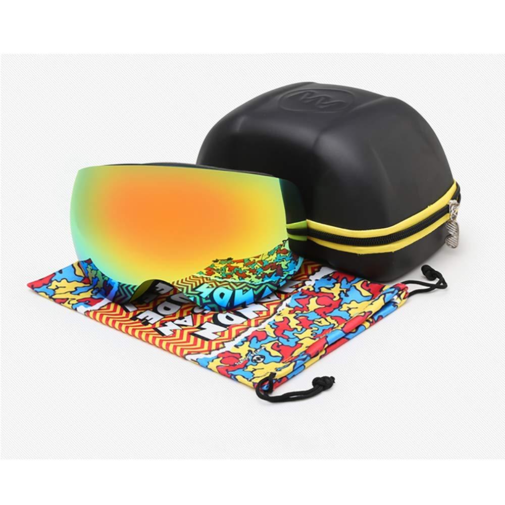 CXJ Skibrille Skibrille Skibrille Snowboard Brille Verspiegelt Dual Austauschbar Sphärischer Linse Anti-Beschlag Frameless UV400 OTG Schutz Für Damen Männer B07KYM143N Skibrillen Einfach c923ad