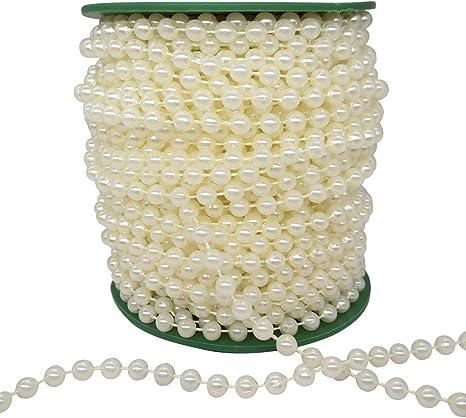 Wedding Jewellery Florist Craft 8mm Round Ivory Glass Pearl Beads x 36