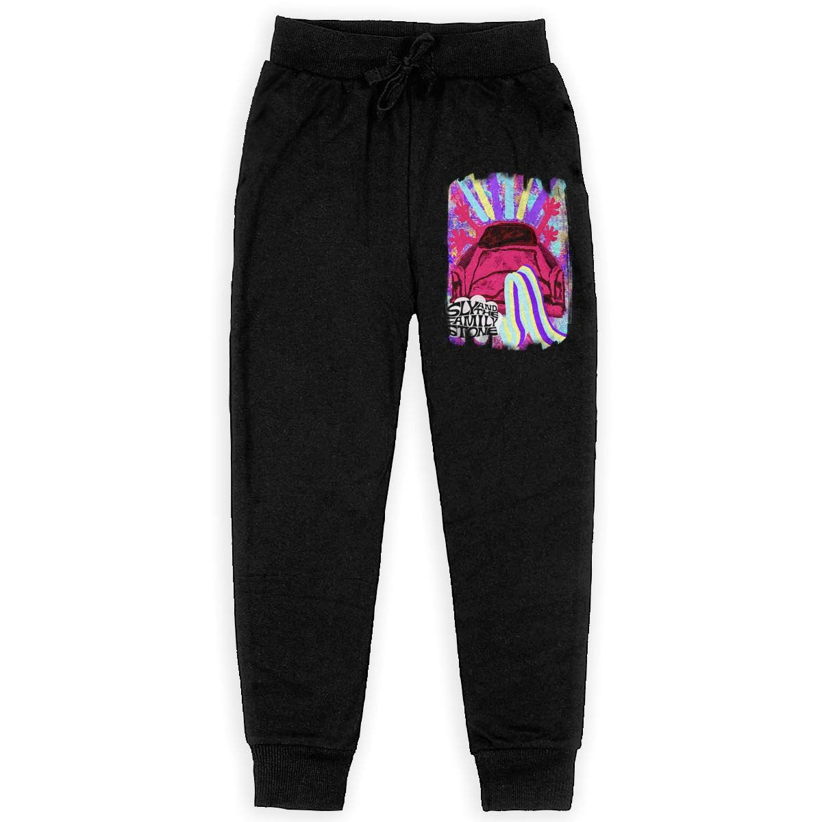 Unisex Teens Sly and The Family Stone Fashionable Music Band Fans Daily Sweatpants for Boys Gift with Pockets