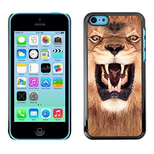 Premio Sottile Slim Cassa Custodia Case Cover Shell // V00002127 roi Lion // Apple iPhone 5C