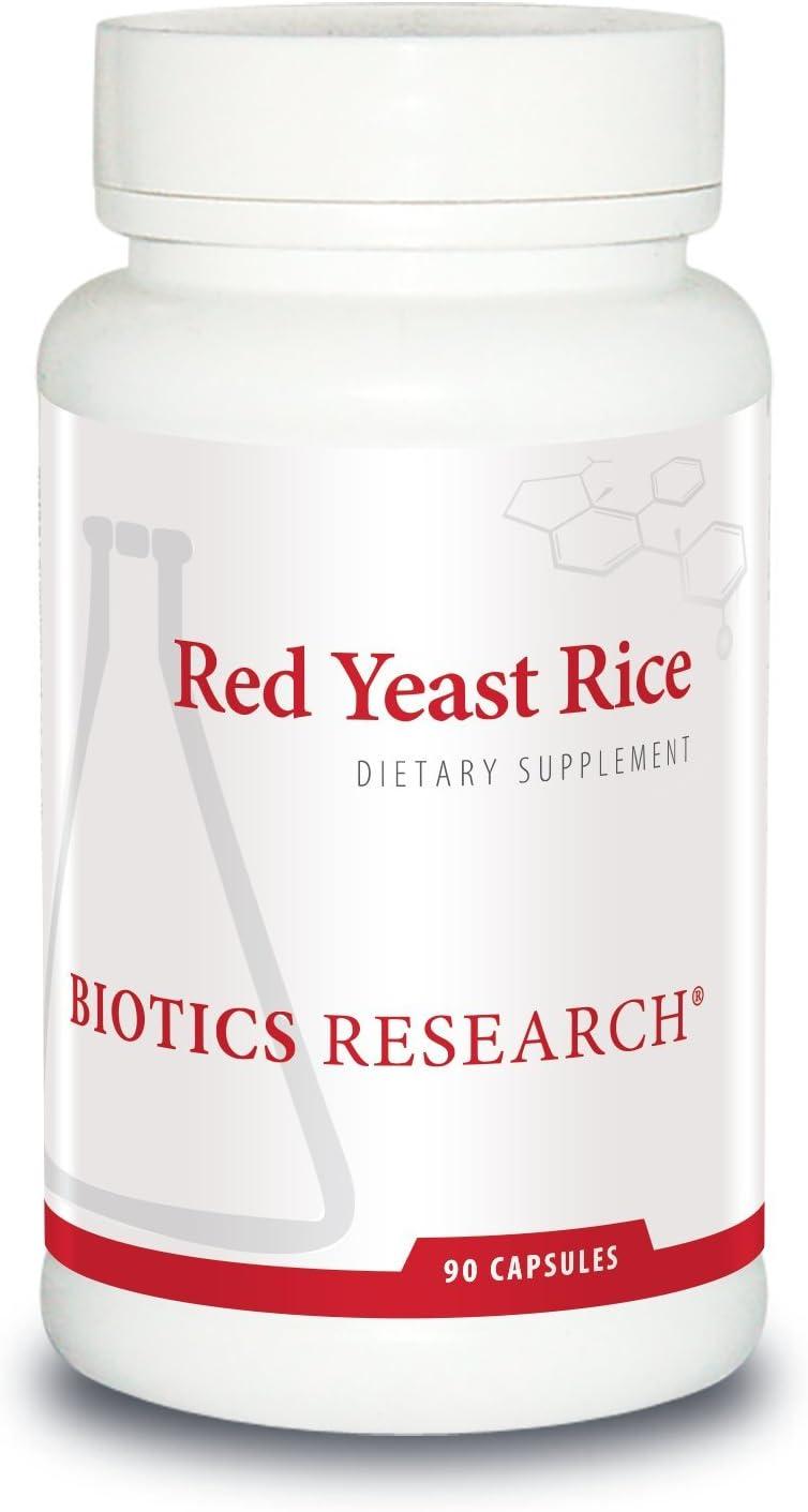 Biotics Research Red Yeast Rice Free of Mycotoxin Citrin RYR, 2400milli Cardiovascular Health, Monascus purpureus, Healthy Aging, Healthy Blood Lipid Levels, Weight Management, Dietary Staple. 90 Caps