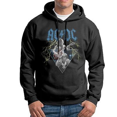 AC DC ANGUS & BRIAN Man's Lightweight Fleece Hoodie Black