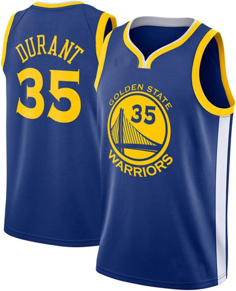Herren Basketball Trikots Golden State Warriors 35 Durant-Basketball Uniform Shirt Weste Swingman Edition Mesh Jersey Unisex /Ärmellose Weste Top Sportwear
