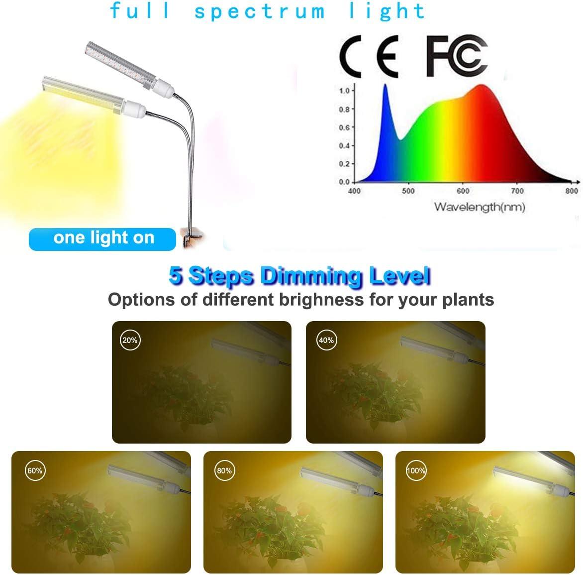 MFEI Lampes de Culture /à LED pour Plantes dint/érieur Ampoule /à intensit/é Variable pour syst/ème Solaire /à Spectre Complet de 100 W 176 LED pour semis Fruit en Fleurs Prise USB pour Fruits