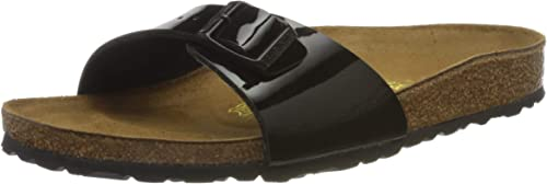 Birkenstock Womens Madrid Patent Shiny Birko Flor Sandals