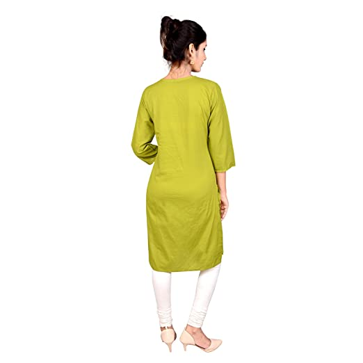 Indian Women's Plain Cotton Kurti Top