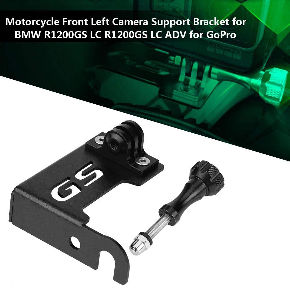 OKBY Support en L pour BMW R1200GS LC Support de cam/éra R1200GS LC ADV pour GoPro. Support de cam/éra Avant Gauche pour Moto Color : Silver