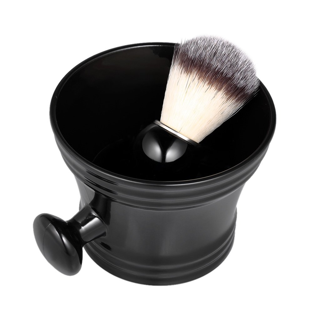Anself 2pcs Traditional Beard Shaving Tools Set Wet Shaving Kit Shaving Brush Mug Bowl