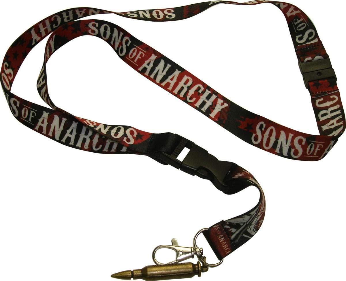 Sons of Anarchy Logo Bullet Key Chain Lanyard: Amazon.es: Hogar