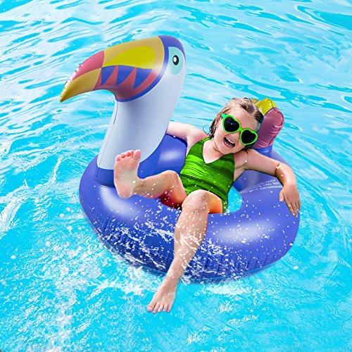 WISHTIME Toucan Bird Swim Pool Ring Lovely Toucan Bird Swimming Ring for Kids Boys Girls Summer Outdoor Inner Tube Swimming - Tube Suit Inner