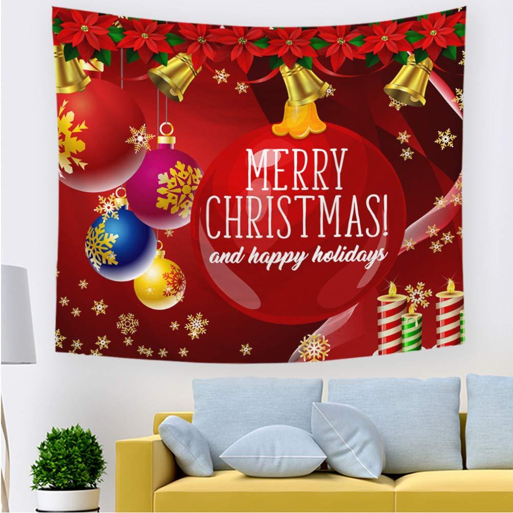 HHM0111-01,S Babbo Natale Allegro Albero di Natale Stampato Arazzo da Parete per Soggiorno Camera da Letto Dormitorio Decorazioni per La Casa ZYBC Arazzo di Natale Appeso A Parete