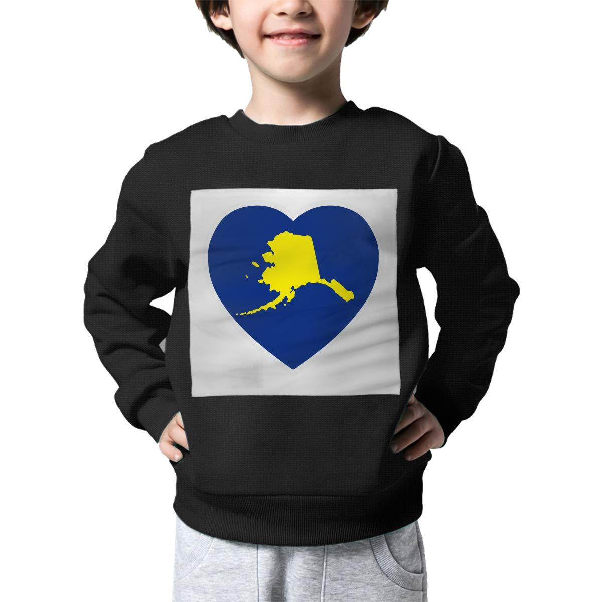 AW-KOCP Childrens Alaska Heart Sweater Baby Girls Sweatshirt