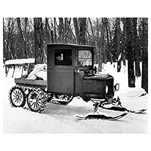 1926 Ford Model T Snowmobile Photo Poster