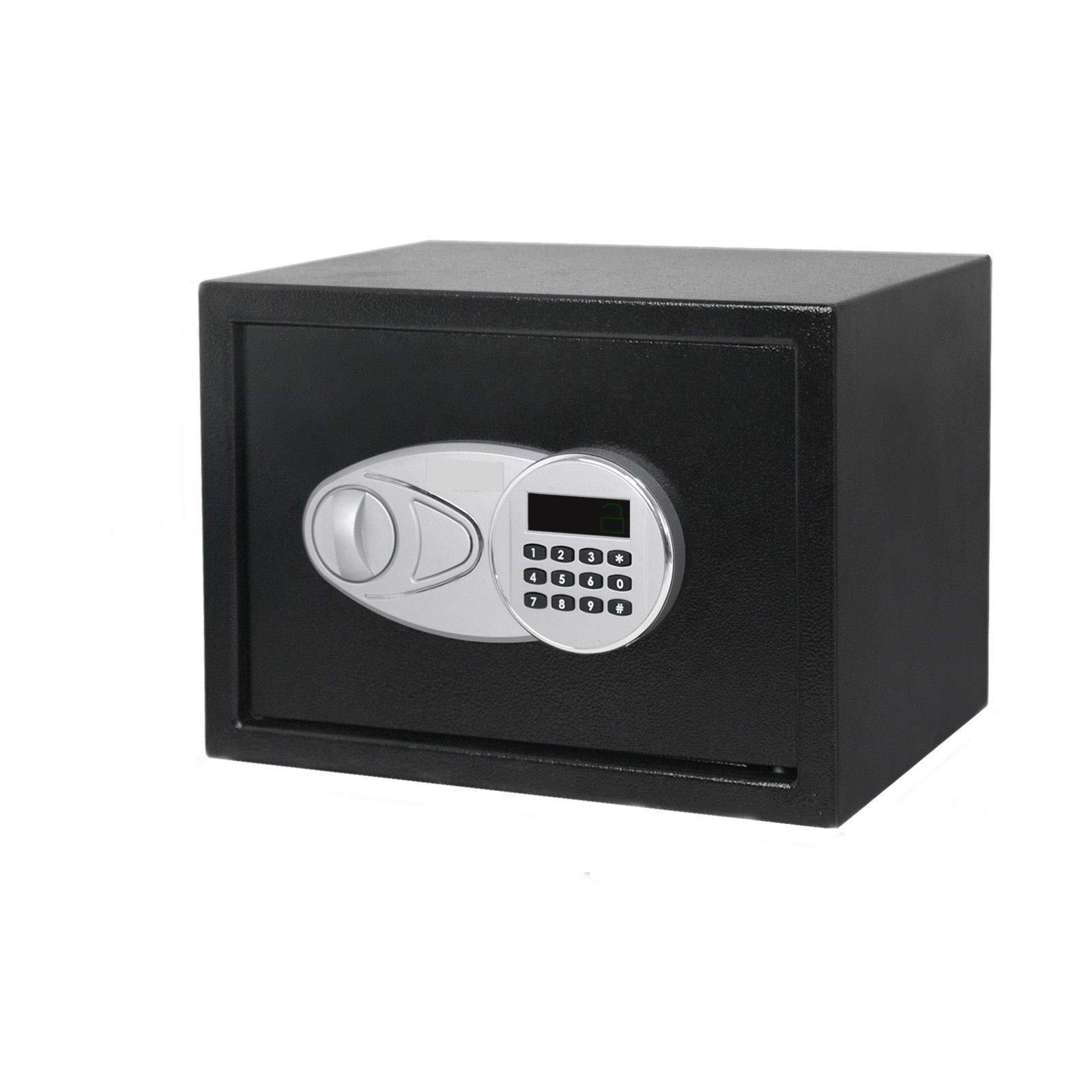 9.8'' Black Digital Safe Box w/ 2 Key with Ebook