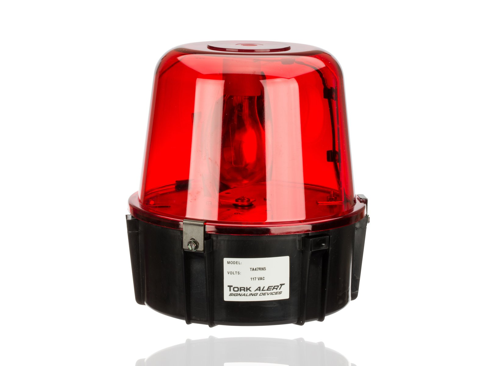 All Purpose 360 Degrees Rotating Beacon, Warning Light, 117VAC, For Security Intrusion, Red