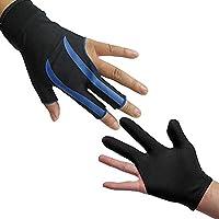 LHKJ 3 vingers biljart handschoenen voor vrouw, 3 vingers Snooker handschoen keu schieters handschoenen voor man…